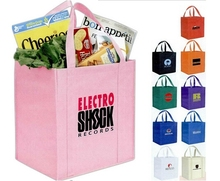 2015 promotional custom printed non woven reusable grocery tote bags for shopping