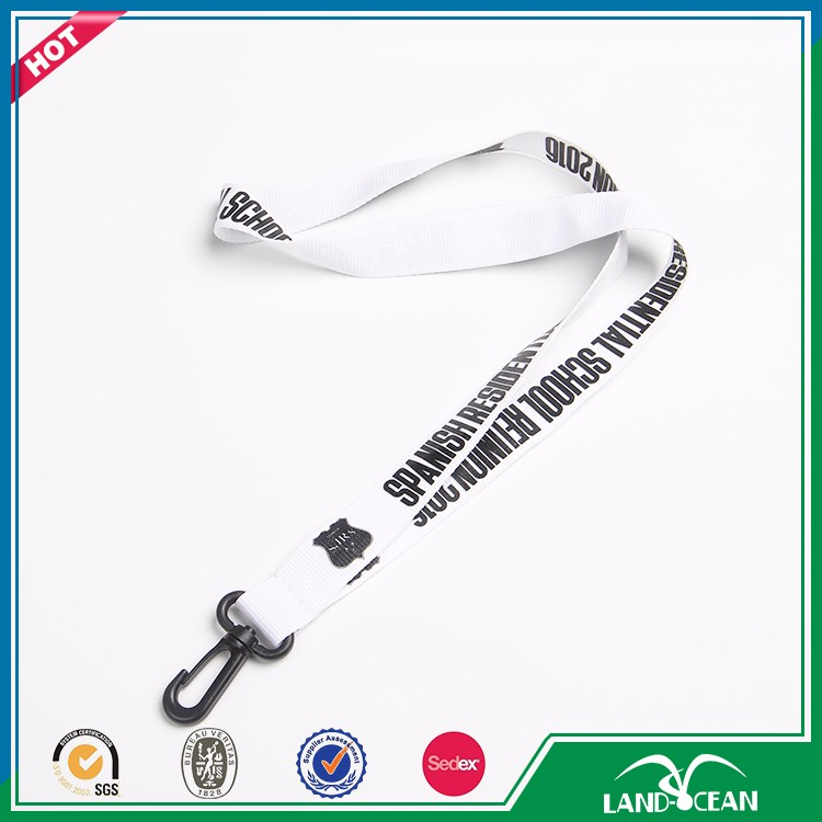 Simple style design cool white and black long lanyard