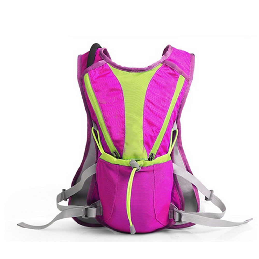 China 12L Backpack And 2L Water Bag Hiking Knapsack Travel Running Sport Camping Backpack Bag