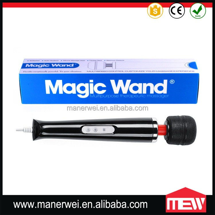 Japan Sex Toy Wired Magic Wand Massager 30 Speed Vibrating Wand