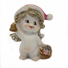 Hot Sell Polyresin Little Angel Girl with Wings for Wedding Decoration