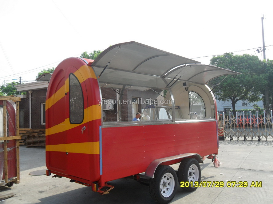 fried ice cream cart van mobile food carts towable custom food trailer for sale