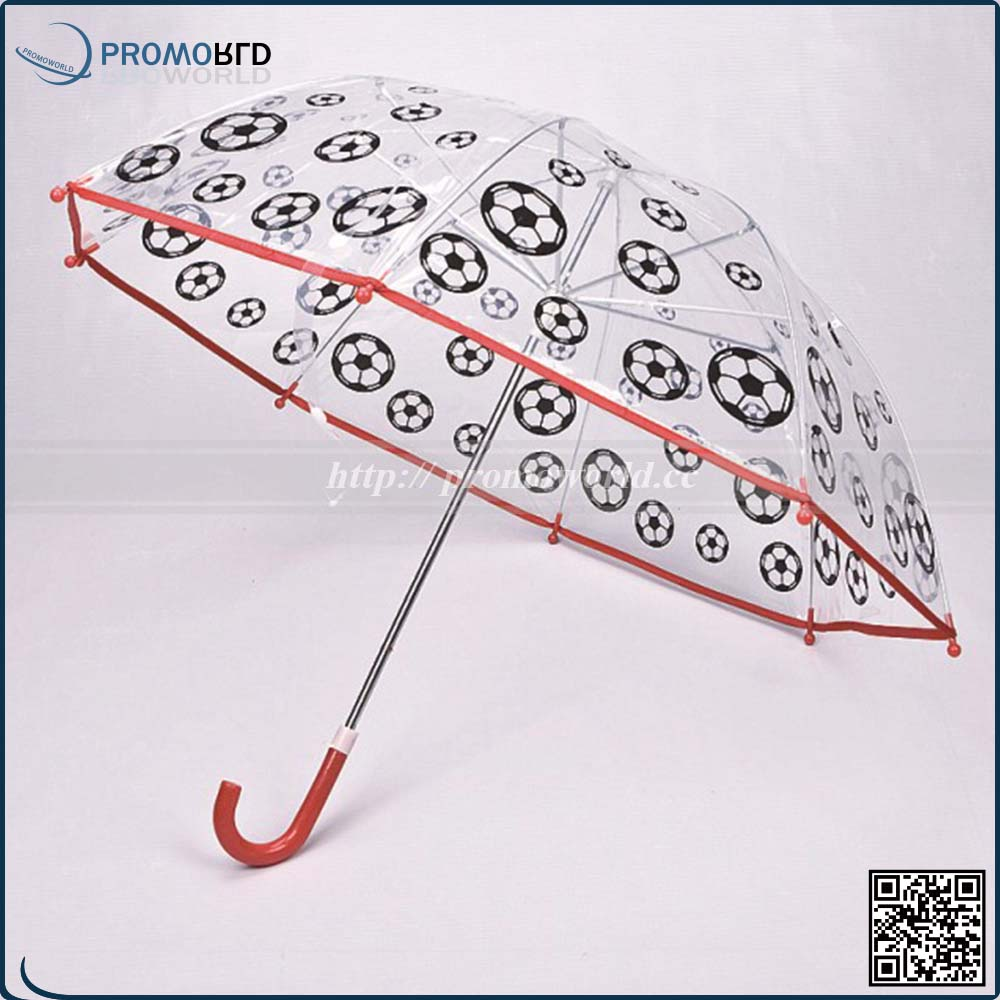 promotional full color printing kids PVC clear transparent folding umbrella