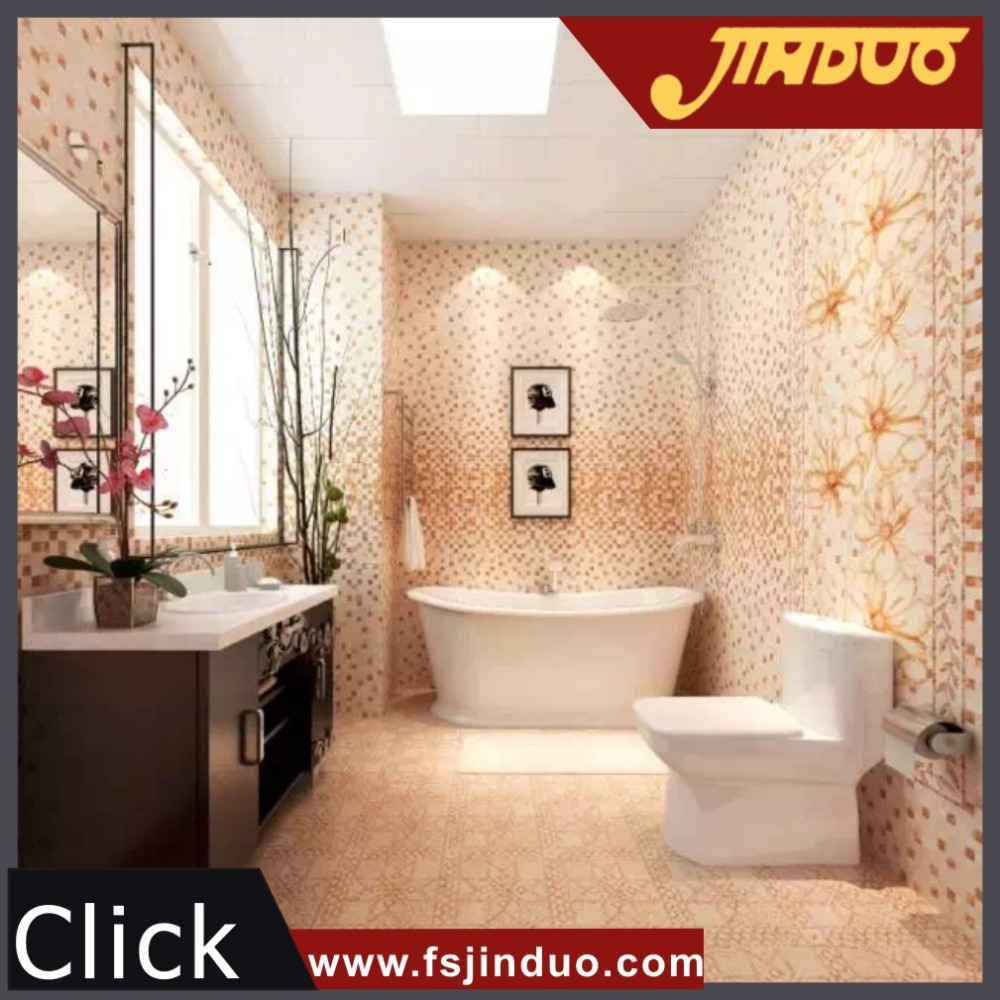 300x600mm foshan newest design bathroom mosaic ceramic for Bathroom design 6 x 7