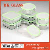 Square Oven Safe Glass Food Container/Glass Hot Food Storage Box/Camping Food Storage Box