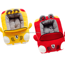 Yellow and red cute car shaped pet house dog bed washable soft sofa bed luxury pet dog bed