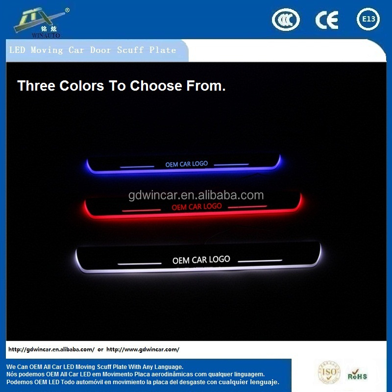 innovative new products led moving door scuff LED Scuff plate light for Chevrolet Cruze 2009 - 2013 door sill plate light