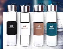 New 450ML Food-Grade Borosilicate Glass Flask Thermos Water Bottle with Strap