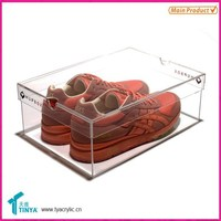 Made In China Warehouses New Products Acrylic Shoe Rack Display For Adidas