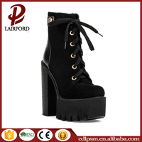 Most fashionable shoelace design women and girls cheap stylish high heel shoes