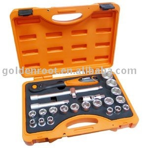 23pcs 1/2 inch Dr. Socket & Ratchet Wrench Tool Kit, Ratchet Wrench Set, Socket Wrench Set, Socket Set