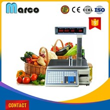 30 kg Led Display fruit and vegetable electronic barcode label printing machine
