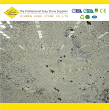Polished white juparana flower Bianco Romano Granite