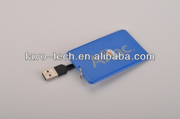 Custom Credit Card USB Flash Drive 2GB Plastic Visit Card High Definition