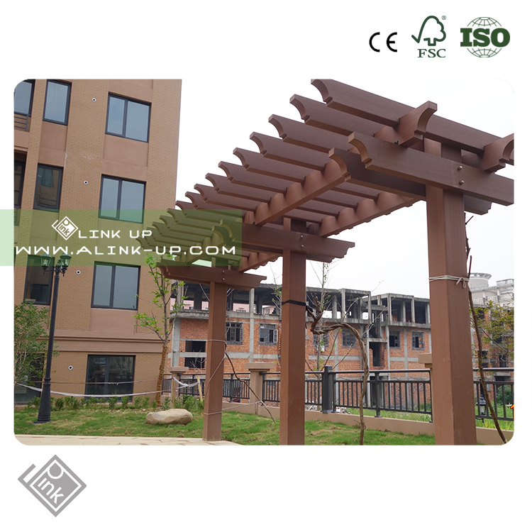First-Class customized waterproof WPC the new two posts pergola
