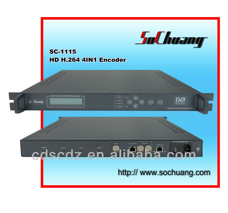 4IN1 H.264 HD IP Encoder (4 HDMI in and ASI+IP/UDP/MPTS out)/hdmi to ip encoder