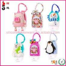 promotional gift silicone products bbw hand sanitizer pocketbac holder with logo