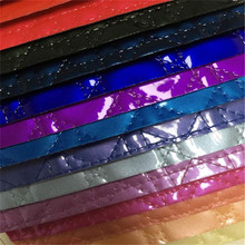 Top selling many colors stocklot shiny embossed fake leather fabric (W133)