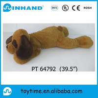 hot sale cute plush stuffed sitting dog toy/promotional animal toy stuffed