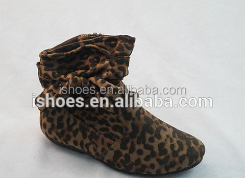 2015 cheap brown microfiber half boots for women with fashion bow