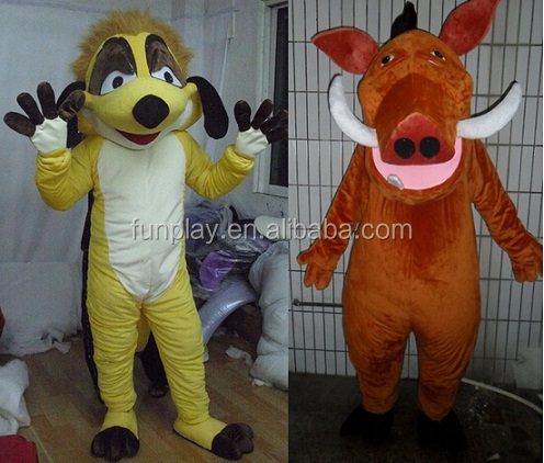 HI factory price wholesale timon & pumba professional mascot costumes for sale