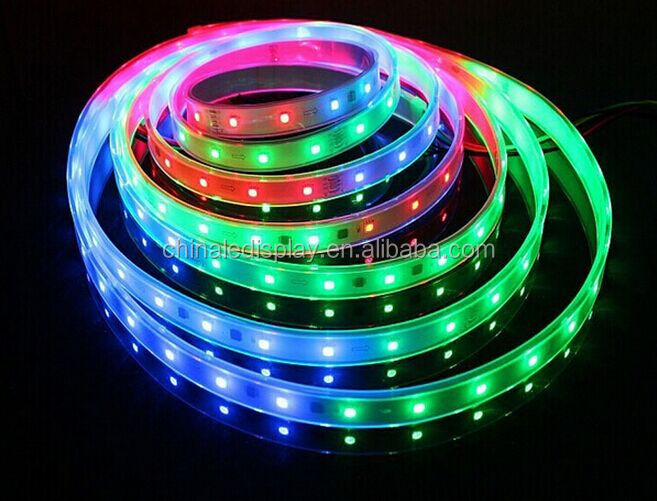 2812IC Programmable 5050 rgb led strip Christmas lights