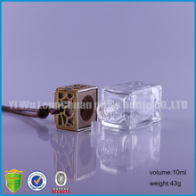 10ml Square Cube Shaped Car Hanging Fragrance Bottles ,Auto Perfume Diffuser