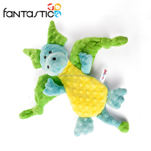 Promotiona popular green dragon plush hot sale educational toy for dog
