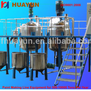 Simple Outside Stucco Mortar Production Line Applied To Various Raw Batch Chemical Reactor For Adhesive, Paint, Resin, Emulsion