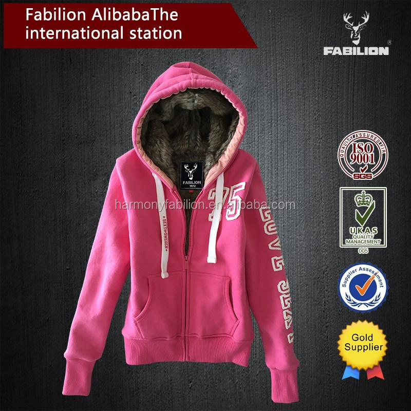 lady's new printing bright color hooded plain sweat suits