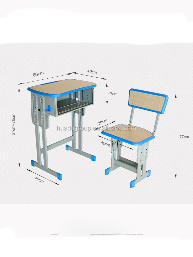 hot selling modern school furniture sets elementary desk with chairs manufacturer