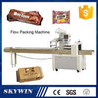 Skywin Automatic Frozen Food Candy Pillow Bread Cake Packing Machine Flow Packaging Machine Price For Food