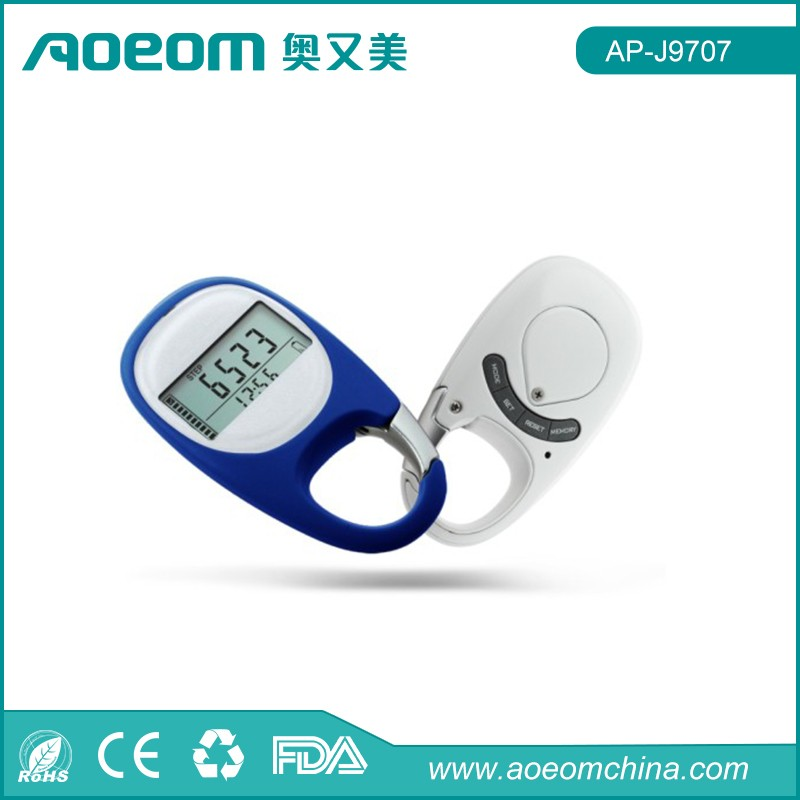 Step distance and calorie measurement 3D instructions for use pedometer digital pedometer
