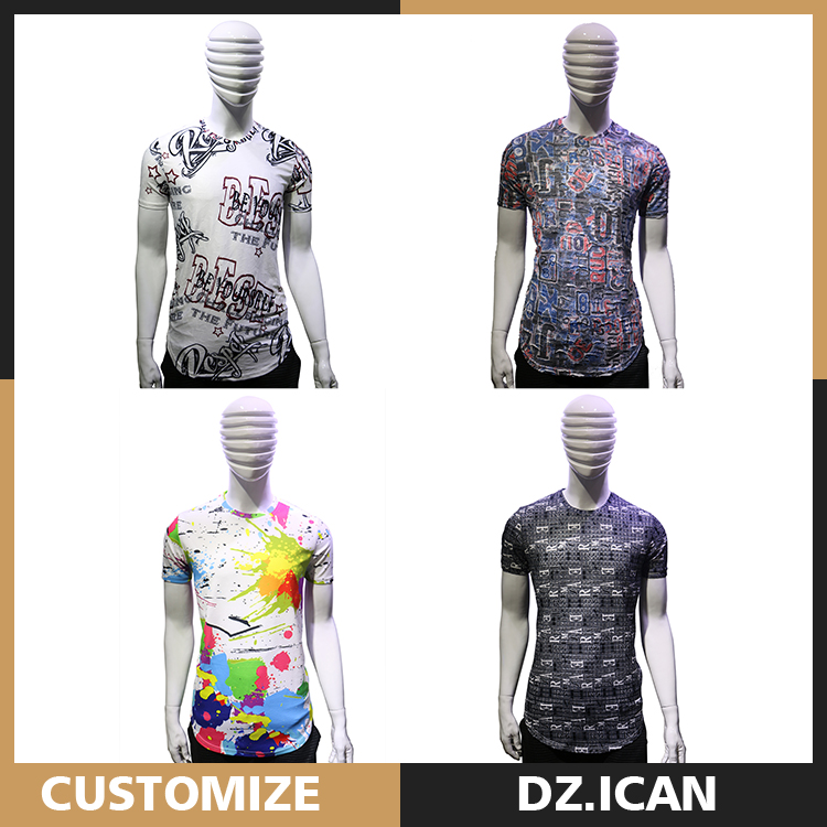 Custom Printing Sublimation Extended T-Shirt Wholesale For Men