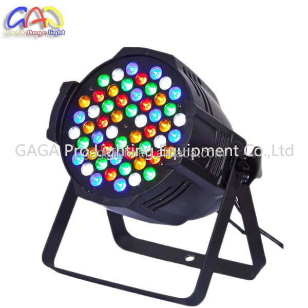 2016 hot! Professional 54x3w RGBW <strong>LED</strong> PAR Light With Plastic Housing
