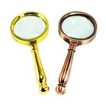 Antique metal magnifying glass handheld magnifier
