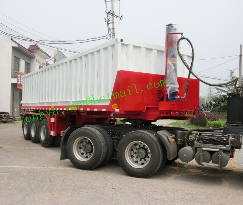 High quality factory price 20ft Flatbed rear dump trailer on sale