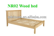4.6' solid oak bed/wooden bed/bedroom furniture set