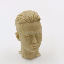 5cm Clay sample of realistic famous people head sculpture