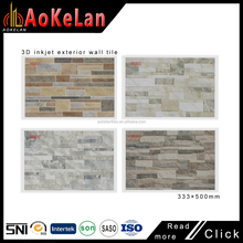 2017 new design outdoor wall tiles 333*500mm inkjet 3d tiles exterior wall tile