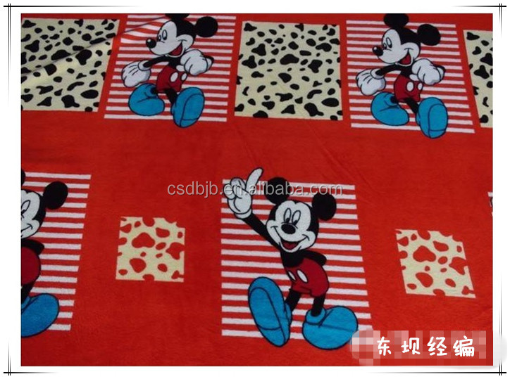 Classic Mickey Mouse patterns 100%polyester fabric