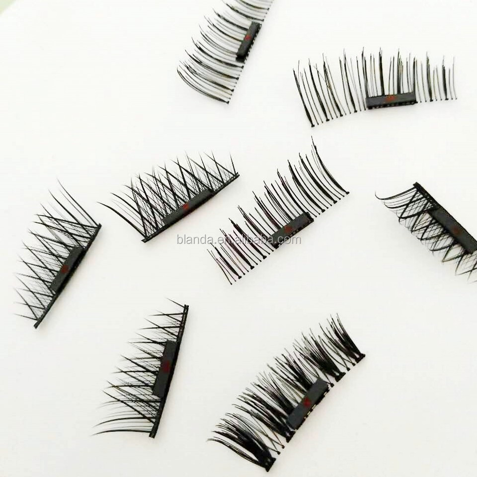 2017 hot selling popular private label magnetic eyelashes ;magnetic lashes ; magnet