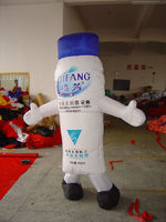 customized inflatable moving cartoon/inflatable mascot