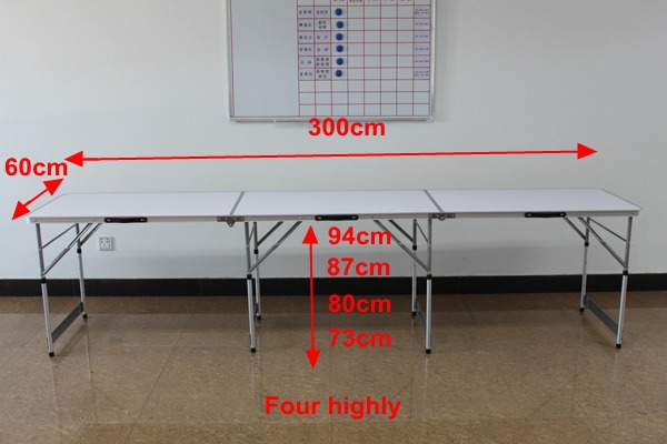 3 Sections (3m) Height adjustable wallpaper folding table