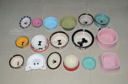 cartoon dog bowls