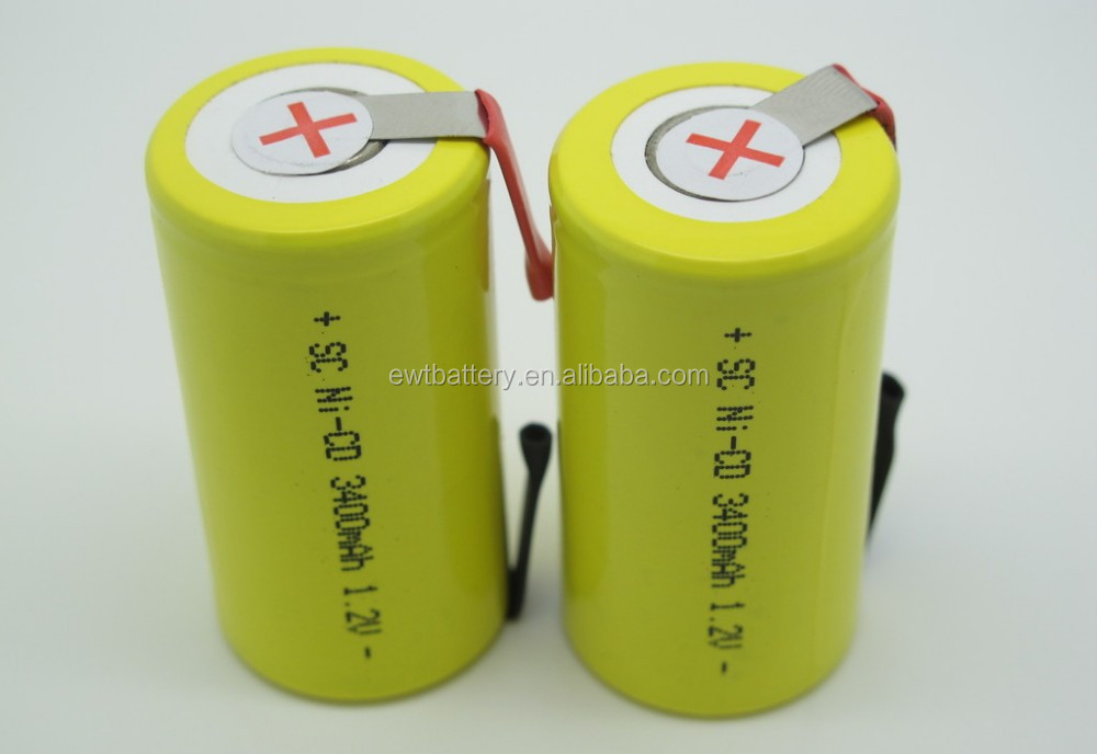 High Temperature type/ high discharge rate nicd sc 1.2v 2000mah nicd battery