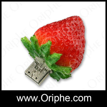 Low price,marketing gift,beautiful strawberry shape usb flash drives bulk 32mb
