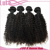 High Quality Brazilian Human Hair Sew In Weave, Grade 7A Virgin Hair Cheap Mongolian Kinky Curly Hair