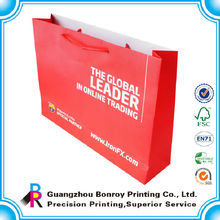 women custom-built portable red paper hand carry bag