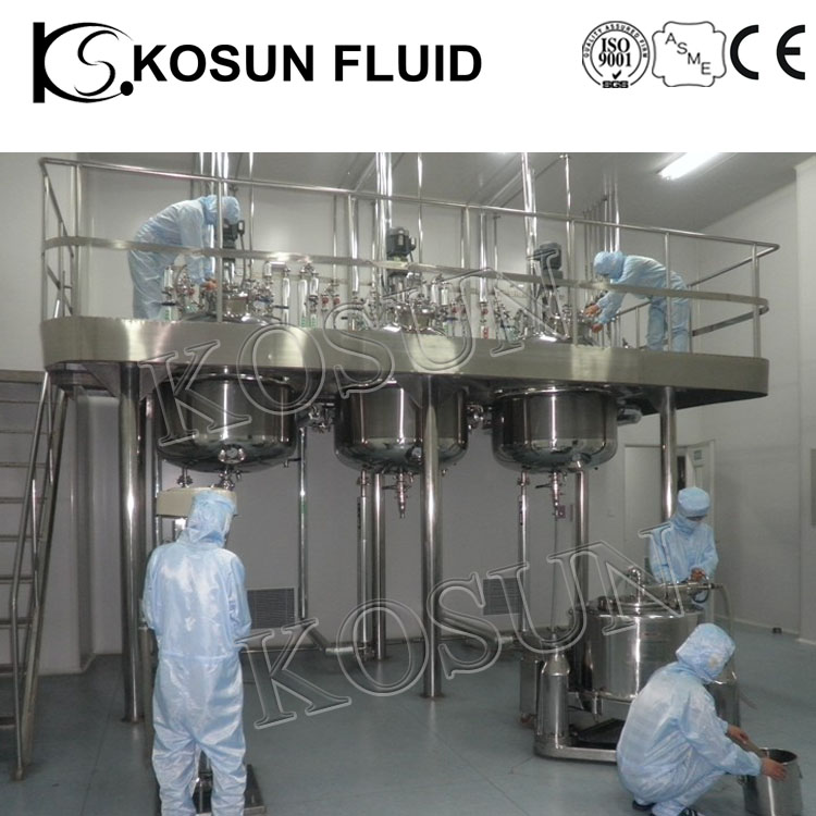 large scale stainless steel biologics bioreactor industrial